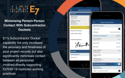 Minimising Person-Person Contact with Subcontractor Dockets